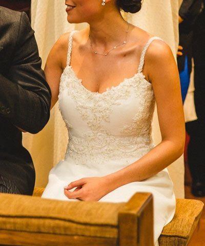 Vestido de novia usado hecho por Oui Novias