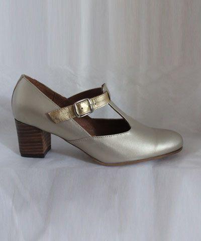 Zapato reina dorado
