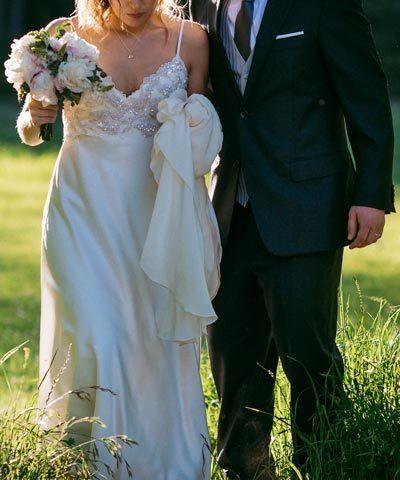 Vestido de novia hecho por Francisca Larraín
