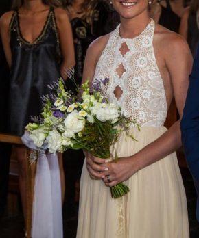 Vestido de novia hippie chic