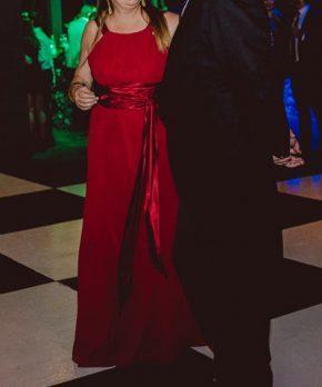 Vestido corte imperio color rojo