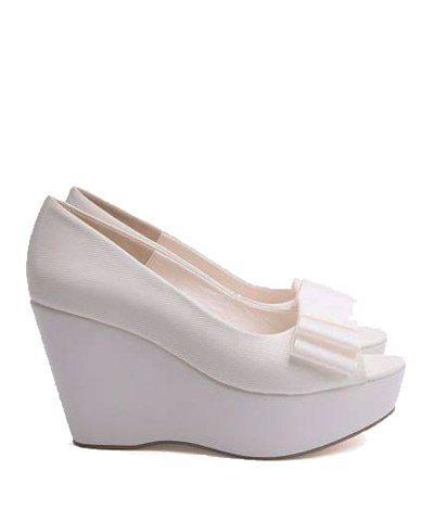 Zapatos de novia forrados con plataforma