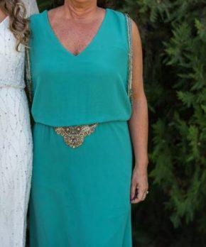 Vestido de madrina calipso de gasa