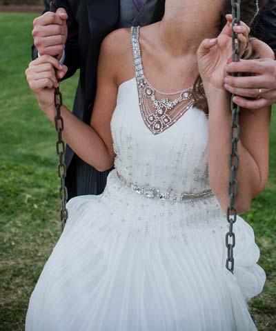 vestido usado a la venta de novia hecho por luz edwards en chile