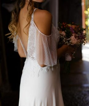Vestido usado de novia hecho en Chile por Francisca Tornero