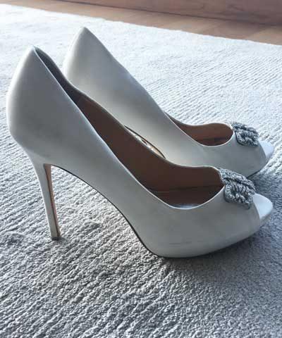 Zapatos de novia usados de razo
