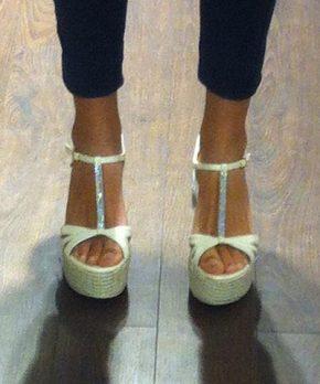 Zapatos de novia con brillantes