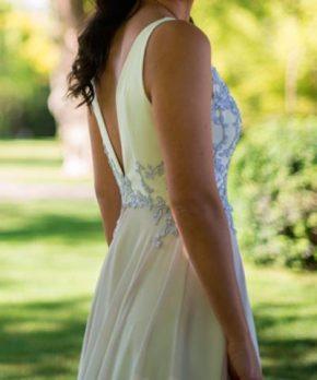 Vestido usado de novia El Balcón de Julieta por Javiera Jordán