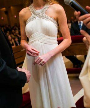 Vestido de novia de gasa de la Francisca Larrain