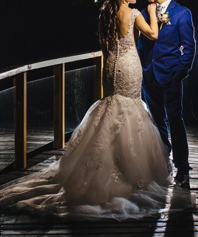 Vestido de novia de tul y encaje La Casa Blanca - Mori Lee