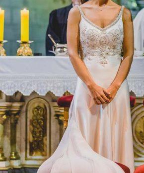 Vestido de novia usado hecho por Francisca Larraín