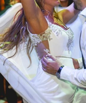 Vestido usado de novia hecho a la medida por Francisca Larrain