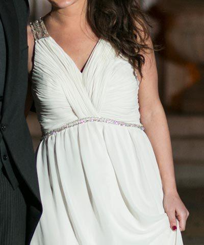 Vestido de novia de gasa hecho por Francisca Larraín