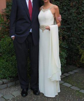 Vestido usado de novia a la venta marca Maria Luisa Vega