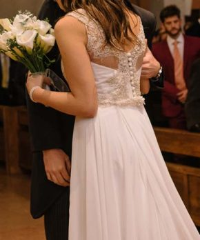 Vestido de novia usado hecho por María Subercaseaux