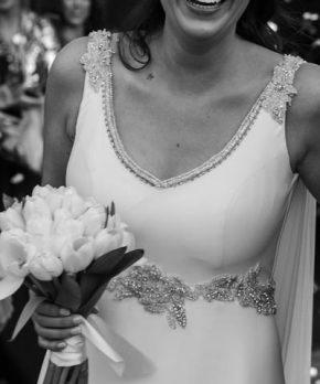 Vestido de novia usado hecho en Chile por Sofía Larrain