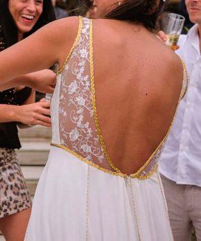 Vestido de novia hecho por Santa Clara Edwards