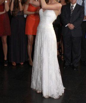 Vestido de novia hecho por Blanca Bonita de encaje francés