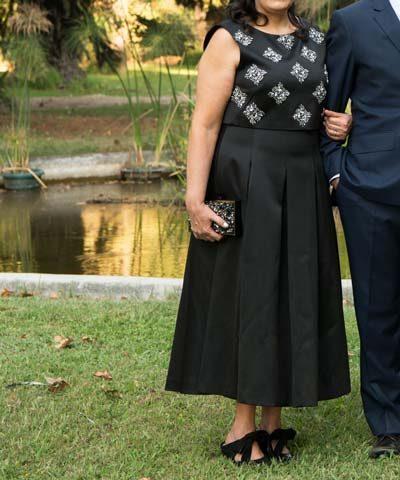 Vestido de madrina negro comprado en Londres marca Ted Baker