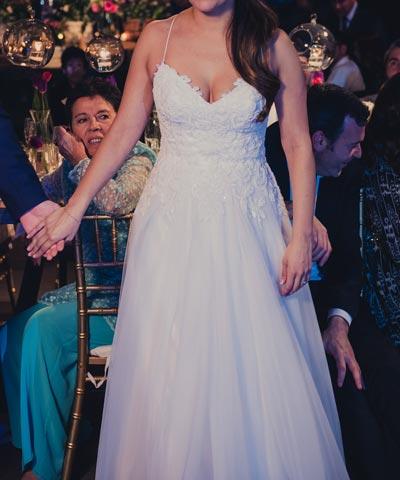 EntreVestidos.cl | Vestido usado de novia en venta hecho de tul ...