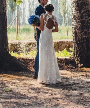 Vestido de novia usado para matrimonio en Chile Diseño Propio