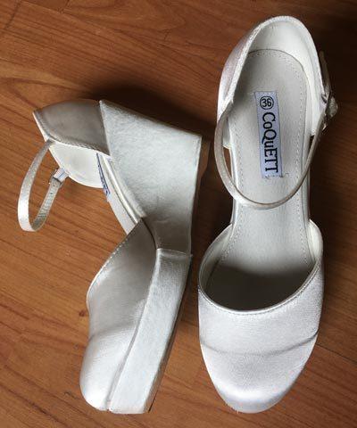 Zapatos de novia nuevos de satín marca Coquett