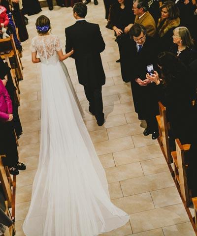 vestido de novia marca luz edwards de dos piezas a la venta en chile