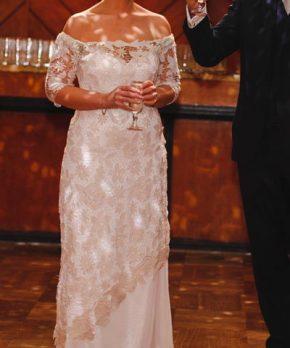 Vestido de novia boho de macramé hecho por Nini Huidobro