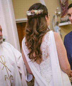 Vestido de novia hecho por Francisca Chicicoada