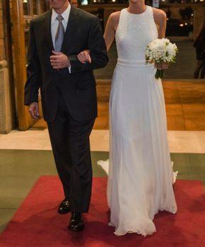 Vestido de novia de seda marca Rosa Clara colección Siena