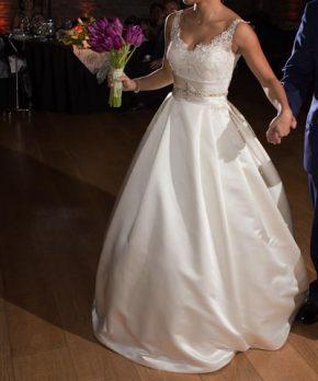 Vestido de novia corte princesa marca ProNovias