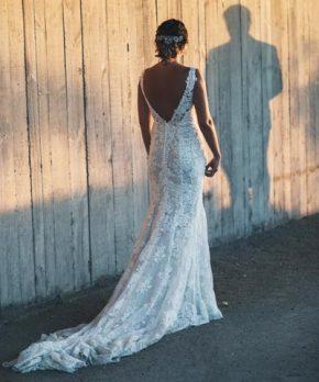 Vestido de novia en venta de encaje marca Rosa Clará