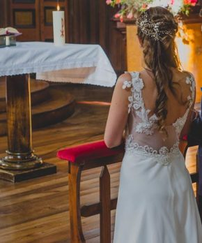 Vestido de novia diseñado por Angeles Tormo