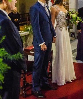 Vestido de novia bordado a mano por Maria Luisa Vega