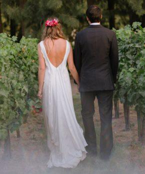 Se vende vestido de novia confeccionado por Francisca Larraín