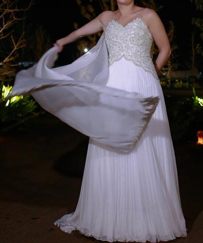 vestido de novia macarena palma en venta, usado una vez