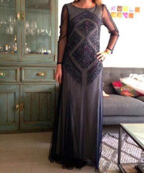 Vestido de madrina formal en venta marca Adrianna Papell