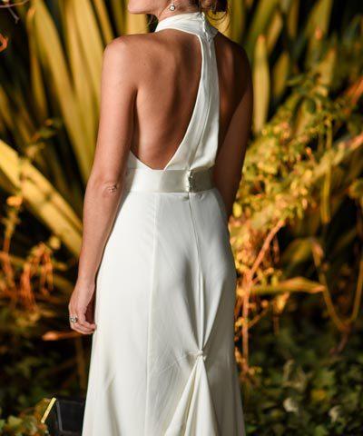 Vestido de novia de gasa de seda marca AE Novias