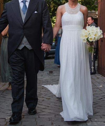 vestido usado luz edwards de novia en venta para matrimonio