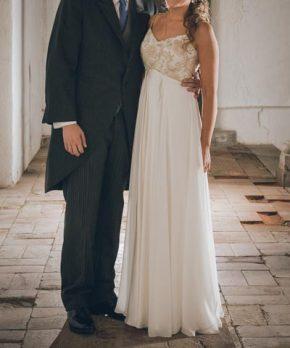 Vestido de seda de novia en venta hecho por Francisca Chicioada