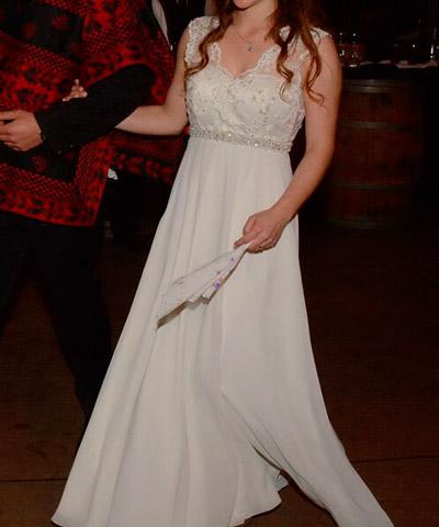 vestido de novia clara edwards en venta a $400.000 con encaje y seda