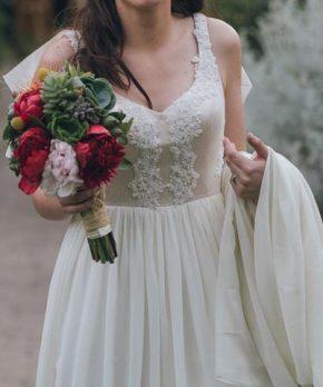 Vestido usado de novia hecho por Francisca Larraín en venta