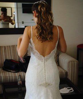 Vestido de encaje corte sirena en venta Mori Lee