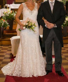 Vestido de novia La Casa Blanca de macramé en venta