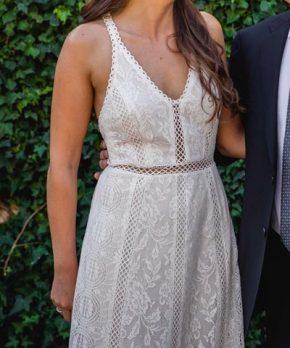 Vestido de novia de encaje Luz Edwards