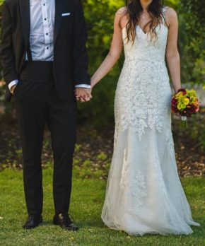 Vestido de novia de macramé en venta