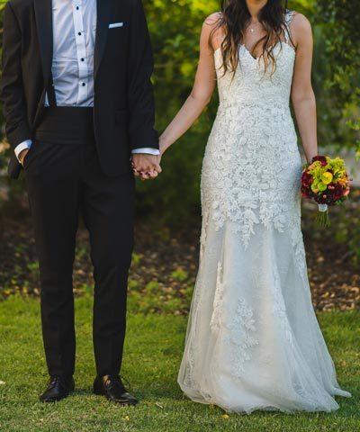 vestido aire barcelona novias a la venta usado una vez en chile