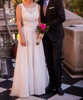 Vestido de novia de crepe de seda natural Anne und Emma