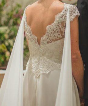 Vestido usado de novia en venta marca Paula Ovalle