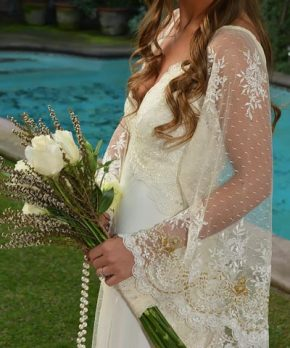 Vestido de novia hippie chic en venta